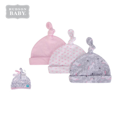 Baby Knot Beanie Hat 3 Pc 52306 - 1006 - Little Kooma