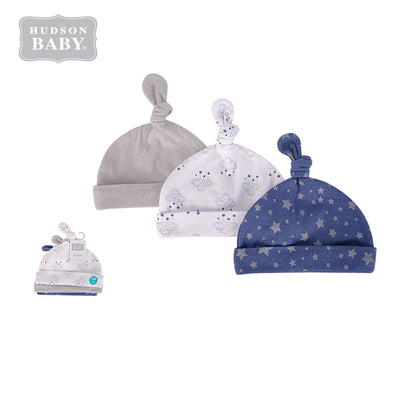 Baby Knot Beanie Hat 3 Pc 52309 - 1006 - Little Kooma
