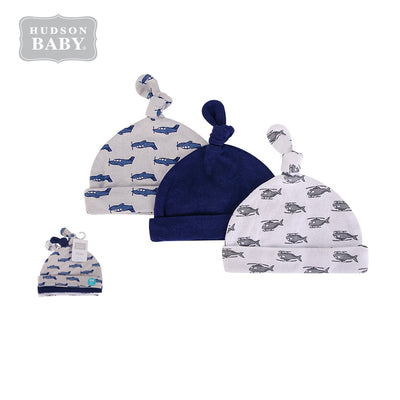 Baby Knot Beanie Hat 3 Pc 52310 - 1006 - Little Kooma