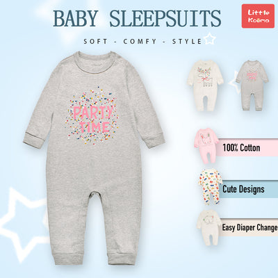 Baby Party Time Grey Jumpsuit All In One - Little Kooma