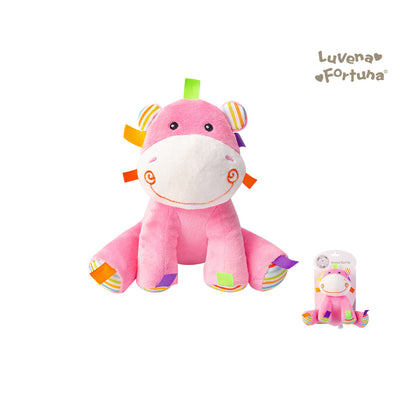 Baby Rattle Plush Toy Hippo GP25-0899 - 0801 - Little Kooma