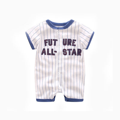 Baby Romper Stripes w Future All-Star - 0821 - Little Kooma