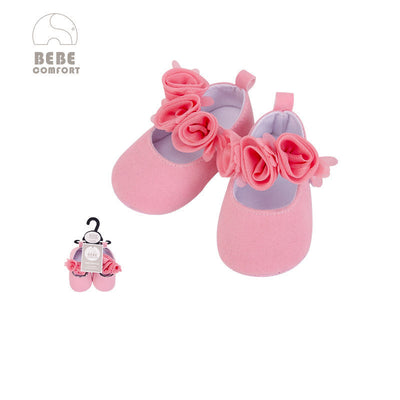 Baby Shoes Pink w Roses 6-12 months/12-18 months BC31043 - 0805 - Little Kooma