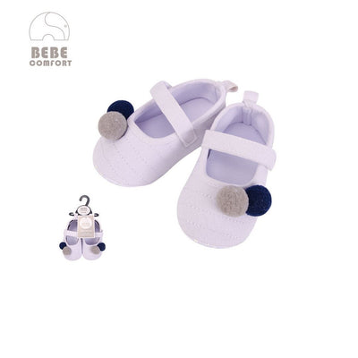 Baby Shoes White w Balls 6-12 months/12-18 months BC31035 - 0805 - Little Kooma