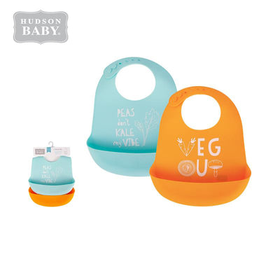 Baby Silicone Bibs 2 Piece Pack 56057 - 1116 - Little Kooma