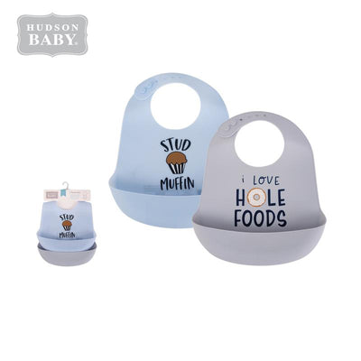 Baby Silicone Bibs 2 Piece Pack 56060 - 1221 - Little Kooma
