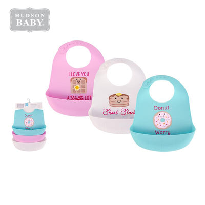 Baby Silicone Bibs 3 Piece Pack 56279 - 1116 - Little Kooma