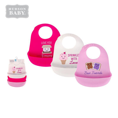 Baby Silicone Bibs 3 Piece Pack 56280 - 1116 - Little Kooma
