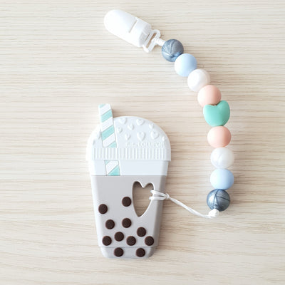 Milk Tea Bubble Tea Baby Teether Set Gem - Little Kooma