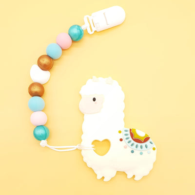 Silicone Baby Teether - Llama Set - Little Kooma