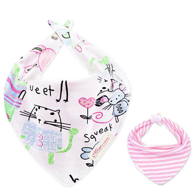 Baby Girl Double-Sided Cotton Bib - Little Kooma