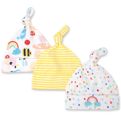 Baby Girl Hats 3 Piece Pack  0-6 Months - Little Kooma