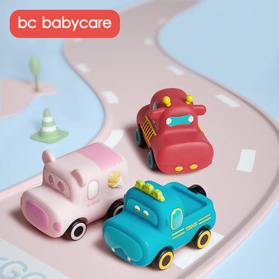 Babycare Inertial Pull Back Car Animal Car Fire Truck 3 Years Old Boy And Girl Toy Engineering Truck - Little Kooma