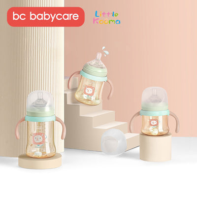 Babycare Baby Feeding Bottles PPSU Shatte-resistant Anti-Colic Straw Handle Milk Bottle for Newborns 160ml (5.6oz)/ 240ml (8.4oz) - Little Kooma