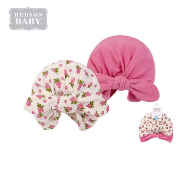 Hudson Baby 2Pc Turban Cap Hat Set 00554CH Wild Flowers - Little Kooma