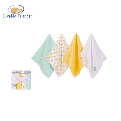 Hudson Baby Washcloth 4pcs Pack 05299 - 1116 - Little Kooma