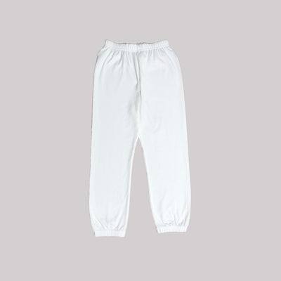 Kids Plain White Long Pants - Little Kooma