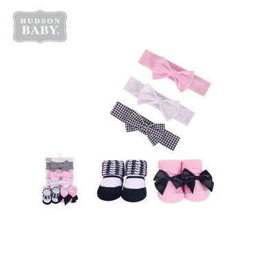 Baby Girl Headband & Socks Set 5pc 54298 - 0821 - Little Kooma