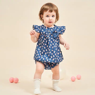 Baby Girl Ruffled Top w Bowtie n Knickers Set - 1006 - Little Kooma