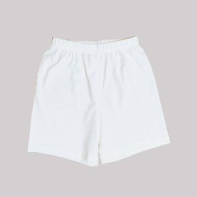 Kids Plain White Shorts - Little Kooma