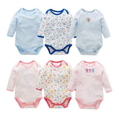 Baby Long Sleeve Bodysuit Bear 3 Pack - Little Kooma