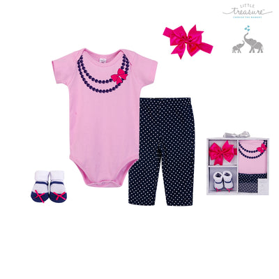 Little Treasure New Born Baby Clothing Gift Set 4Pcs 77005 - 1116 - Little Kooma