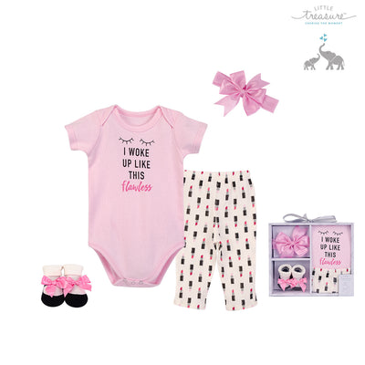 Little Treasure New Born Baby Clothing Gift Set 4Pcs 77008 - 0528 - Little Kooma