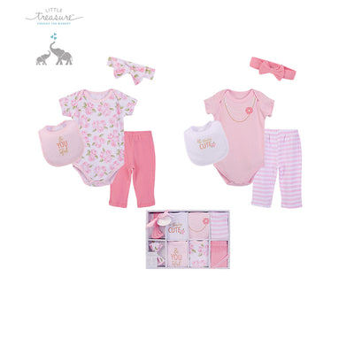 Little Treasure New Born Baby Clothing Gift Set 8Pcs 77014 - 1204 - Little Kooma