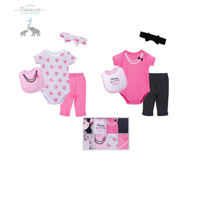 Little Treasure New Born Baby Clothing Gift Set 8Pcs 77017 - 1204 - Little Kooma
