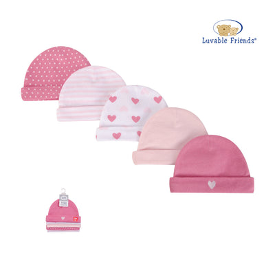 Luvable Friends Baby Hats 5 Pack 34730 - 0528 - Little Kooma