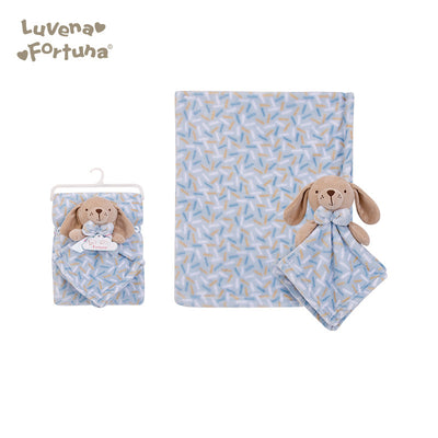 Luvena Fortuna Plush Blanket n Security Blanket R18036 - 0528 - Little Kooma