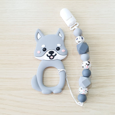 Cutie Shiba Baby Silicone Teether Set - Little Kooma