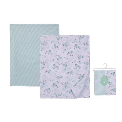 Muslin Swaddle Blanket 2pcs Pack 18797 - 0528 - Little Kooma
