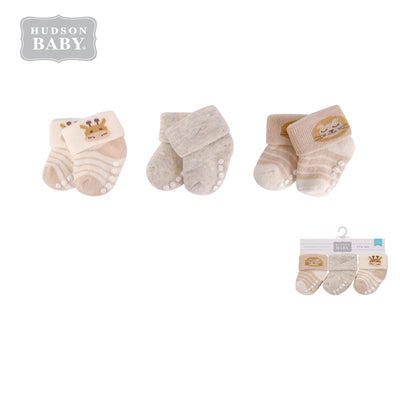 New Born Baby Terry Socks 3 Pack 00371 - 1204 - Little Kooma