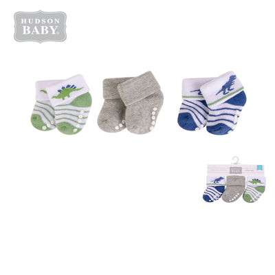 New Born Baby Terry Socks 3 Pack 00373 - 1204 - Little Kooma
