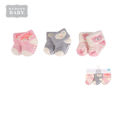 New Born Baby Terry Socks 3 Pack 00376 - 1204 - Little Kooma