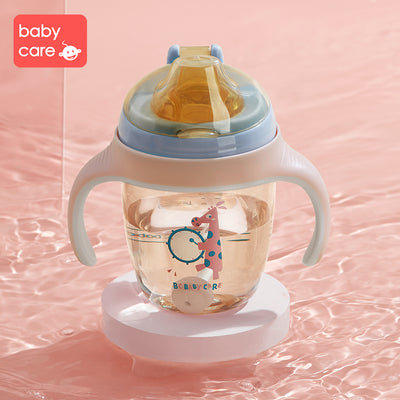 Babycare Baby Sippy Cups Training Cup Water Drinking Bottle Straw Cup 210ml 300ml - Little Kooma