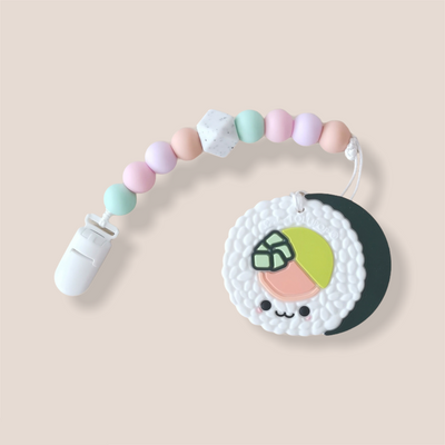 Baby Teether Set - Food Grade Silicone Sushi Roll - Little Kooma