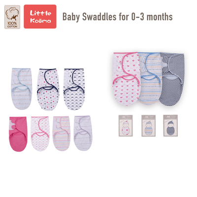 Baby Wrap Swaddle Magic Tape 0-3 months - 0805 - Little Kooma