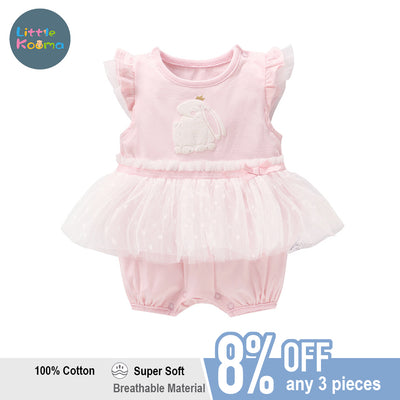 Baby Girl Skirt Romper w Bunny - Little Kooma