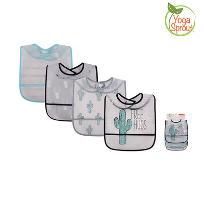 Yoga Sprout Baby Peva Waterproof Bib 4pcs 93025 - 0528 - Little Kooma