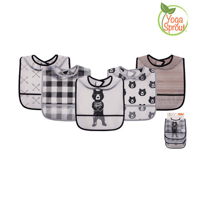 Yoga Sprout Baby Peva Waterproof Bib 5pcs 93027 - 0528 - Little Kooma