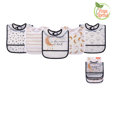 Yoga Sprout Baby Peva Waterproof Bib 5pcs 93031 - 0528 - Little Kooma