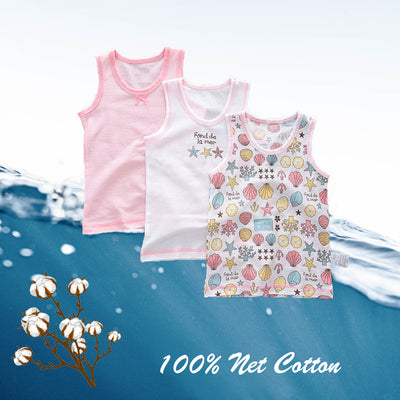 Baby Kid Girls Net Cotton Vest Shell 3 Pack - Little Kooma