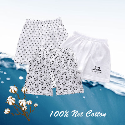 Baby Kid Boys Net Cotton Shorts Panda 3 Pack - Little Kooma