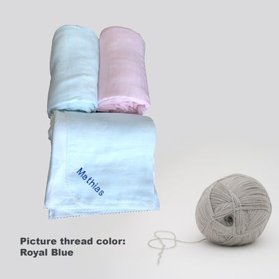 Baby Personalised 5 Layers Super Soft Muslin Blanket - Little Kooma