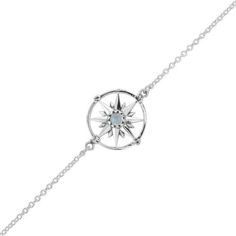 Guiding Light Compass Bracelet - Rainbow Moonstone