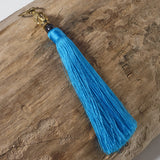 turquoise buddha bag tassel key ring