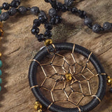 Dream Catcher Tassel Necklace (Black)