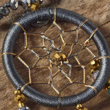Dream Catcher Tassel Necklace (Earth Grey)